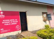 Palisa Public Library showing sign offering public  internet access.