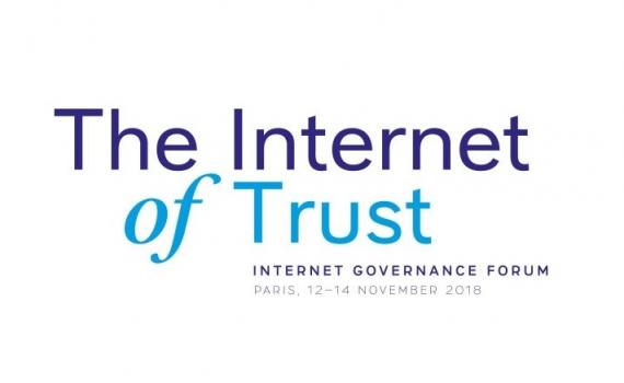 Internet Governance Forum 2018 logo with theme, The Internet of Trust.