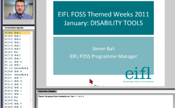 In picture: Mr. Simon Ball is giving an online presentation on disability tools